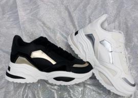 Golden ladies sneaker - white