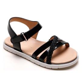 Black Keep on shining sandals