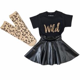 Wild, skirt & knee sock set