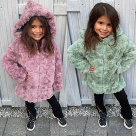 Hooded glamour jacket