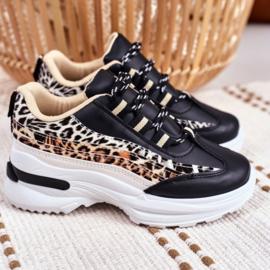 Black animal sneakers