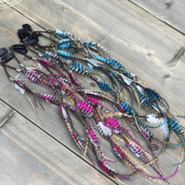 Pink or Blue Ibiza hairclip