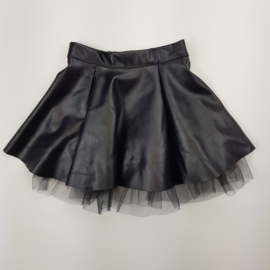 Tule & Leather skirt