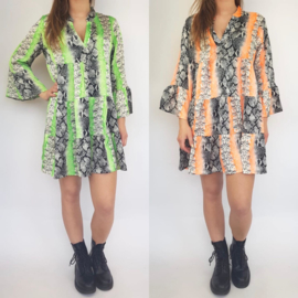 Print & Neon dress (mommy)