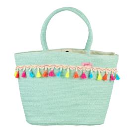 Mint summer tassel bag - Large