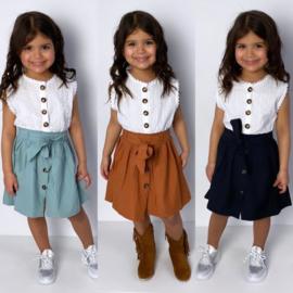 White lace & colors dress