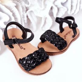 All braids black sandals