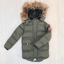 Furry boys jacket - army
