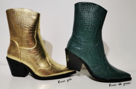Gold & Green boots