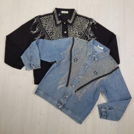 Fringe & studded denim jacket