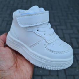High baby sneakers - white
