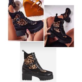 Leopard platform boots