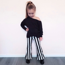 Striped flair pants