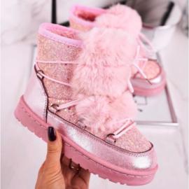 Pink glittery & snowy