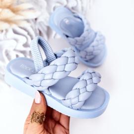 Blue 2 braids slipper