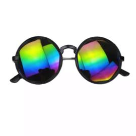 Round mirror sunglasses - multicolor