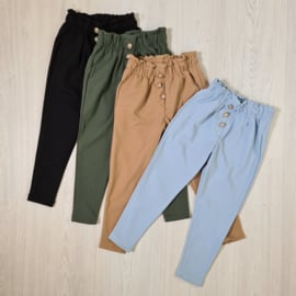 Colored button pantalon