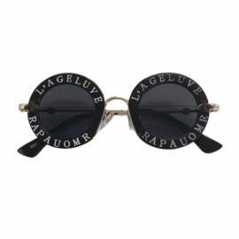 Round belettered sunglasses - kids