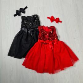 Red or Black Paillet dress