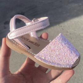 Pink glitter espadrille