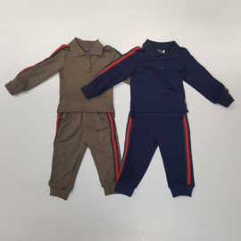 Boys set with a stripe