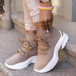 All beige sneakers