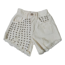 Stud up my beige short