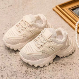 Beige Sporty sneaker - kids