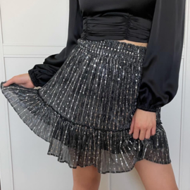 Strass skirt black