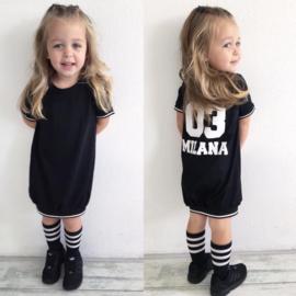 All Black baseball dress shortsleeves (gepersonaliseerd)