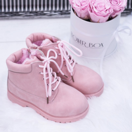 Pink Little timby boots