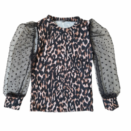 Black sleeves & Leopard top