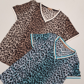 Leopard shortsleeves top