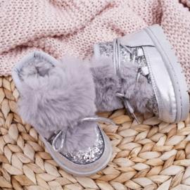 Silver glittery & snowy