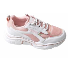 Some pink & white sneakers