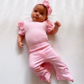 Ruffled rib & Flair set - Pink