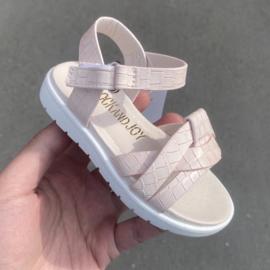 Croco sandals pink