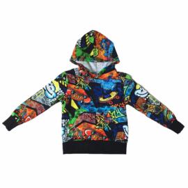 Graffiti pocket sweater