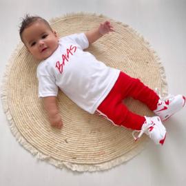 Baas & red side stripe legging set