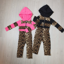 Hooded Leopard jumpsuit