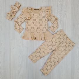 Girly design set - beige