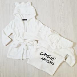 Baby bathrobe - white