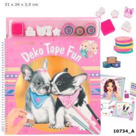 TOPModel kleurboek met masking tape DOG
