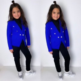 Blue Buttoned blazer