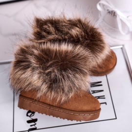 Furry winter boots