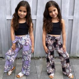 Printed bow pants
