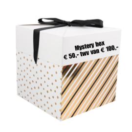 Mystery box 50,- twv 100,- (levertijd 2 werkdagen)