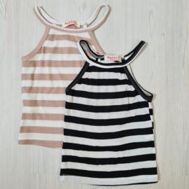 White striped sleeveless top