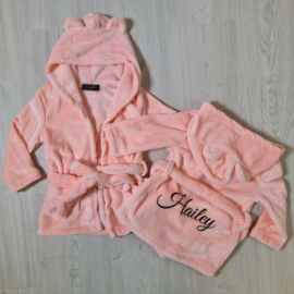 Baby bathrobe - pink