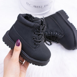 Black Little timby boots